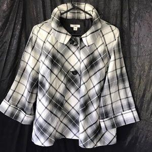 Cato light 3/4 sleeve jacket half lining Sz XL